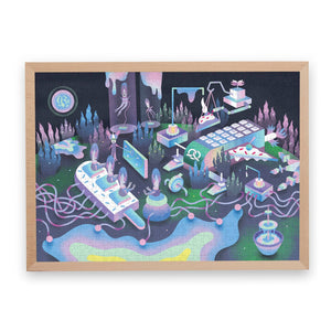 Pucle Puzzle - Planet Sugria. 500 Pieces with frame