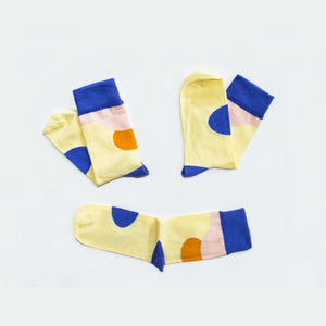 Soseta 3 Socks Acini - blue, yellow, orange