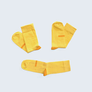 Soseta 3 Socks Citrus - yellow