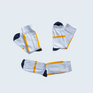 Soseta 3 Socks Radix Herbas - grey, black, yellow stripe