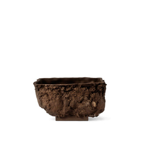 DRN TURF brown clay flower pot resembling a piece of earth. Size G.