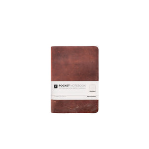 Zuriell Leather Notebook Pocket (A6) Brown