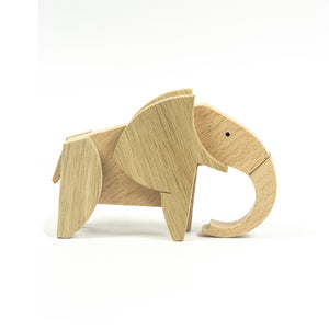 Archabits wooden toys Animal Kingdom - elephant - side