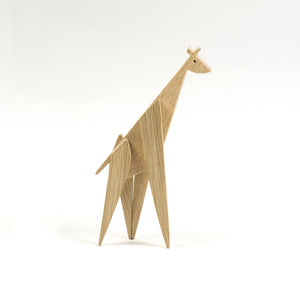 Archabits wooden toys Animal Kingdom - giraffe - side