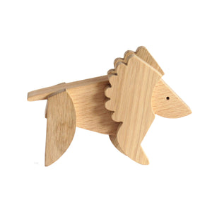 Archabits wooden toys Animal Kingdom - lion - side