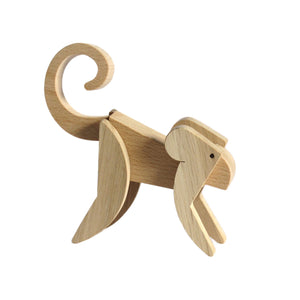 Archabits wooden toys Animal Kingdom - monkey - side