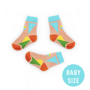 Soseta 3 for Babies - Mini Soseta3 - colourful baby socks. 3 in one pair.