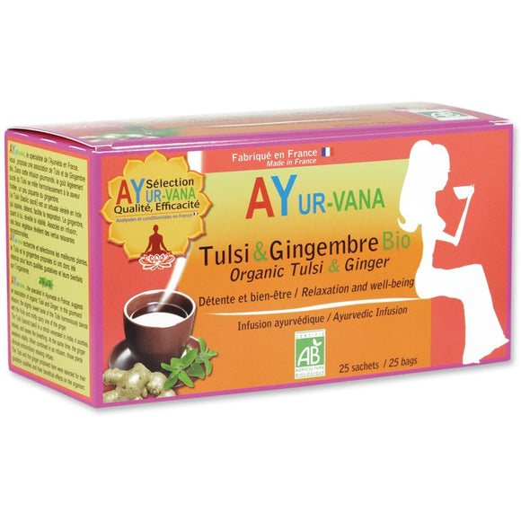 Infusion Tulsi & Gingembre - 25 infusettes - Ayur-vana