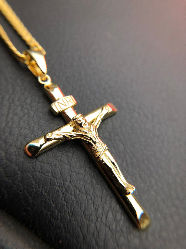 Classic Crucifix Piece - Gold X