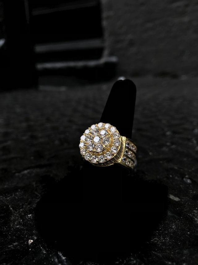 Diamond Flooded Pinky Ring - Gold - Gold X