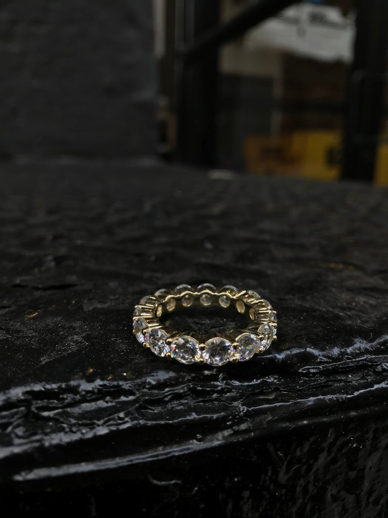 Popular Tennis Design Ring - Gold - Gold X