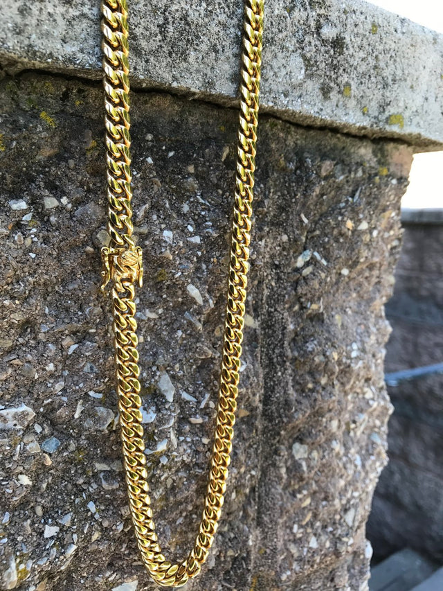Miami Design Cuban Link Chain (10MM) - Gold X