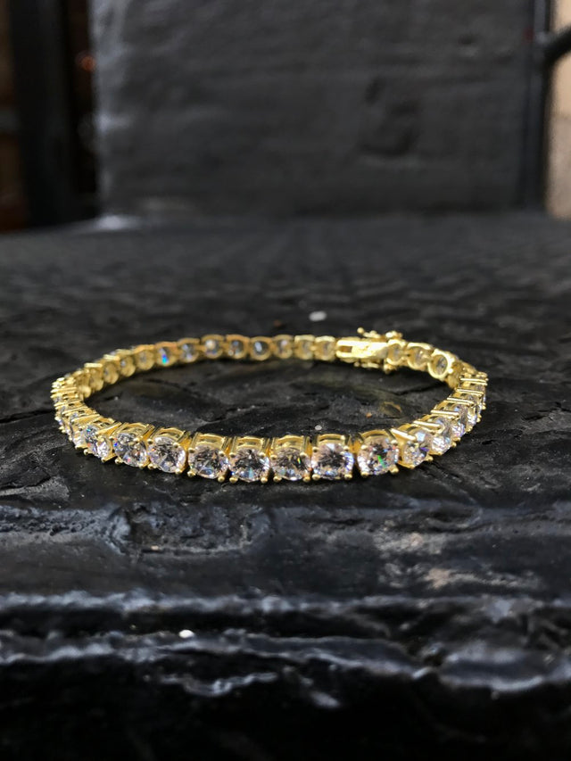 Diamond Tennis Bracelet - Vermeil - Gold X