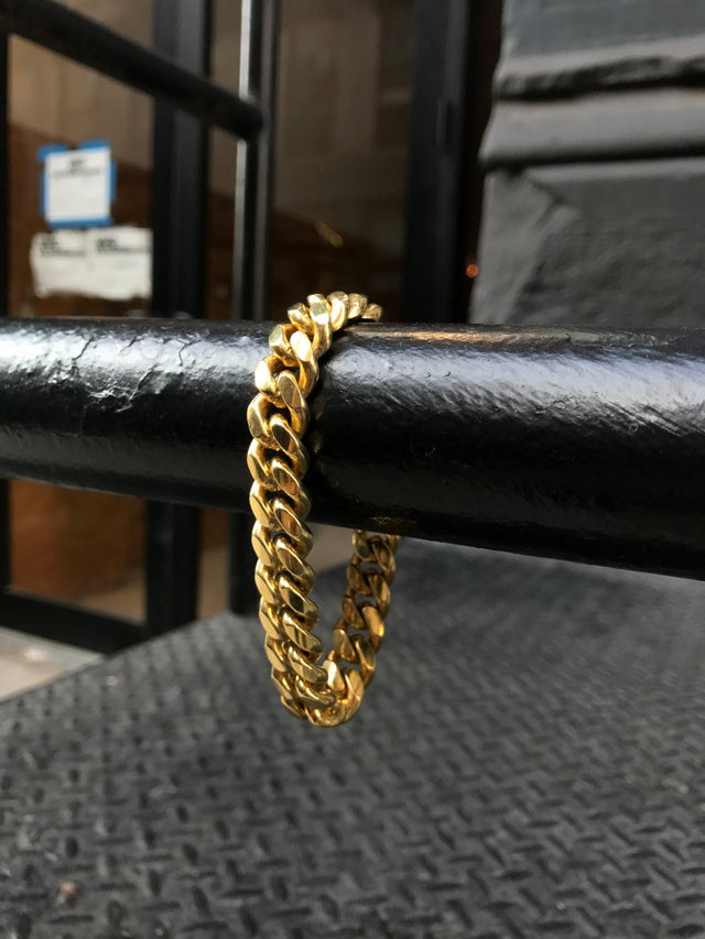 Cuban Bracelet (12MM) - Vermeil - Gold X