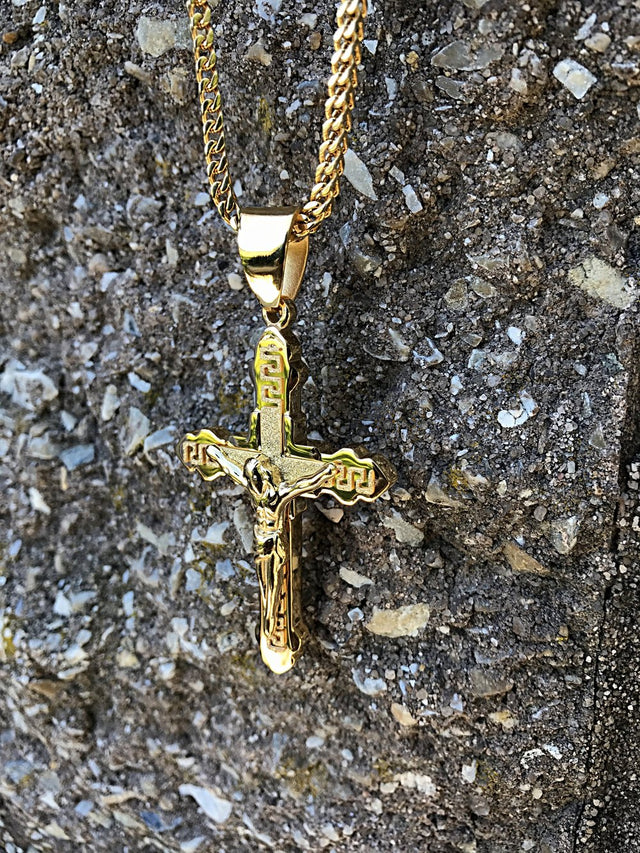 Traditional Crucifixion Pendant - Gold X