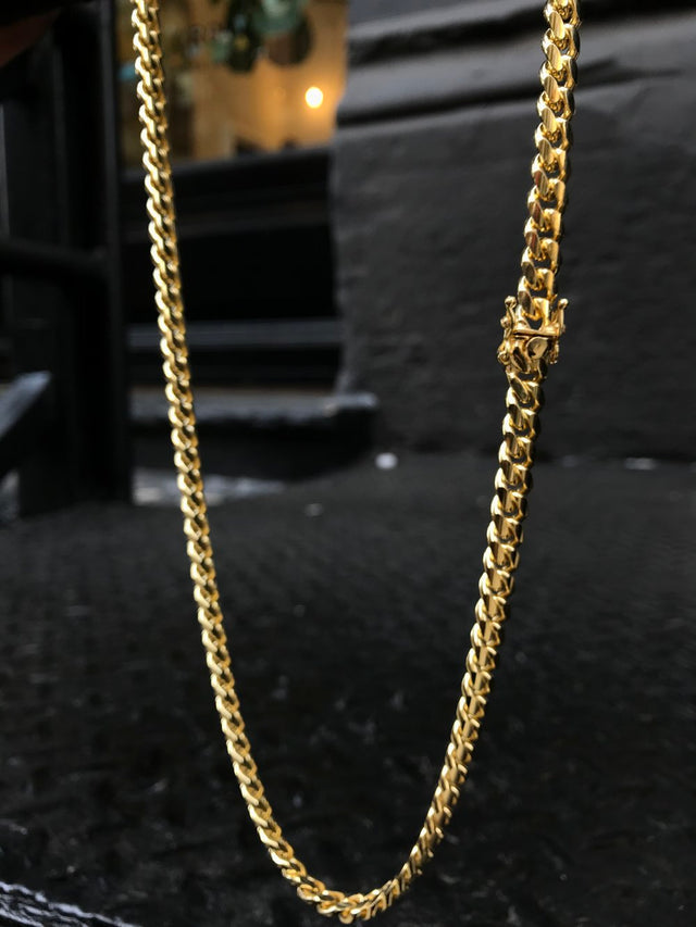 Miami Cuban Link Chain (7.5mm) - Vermeil - Gold X
