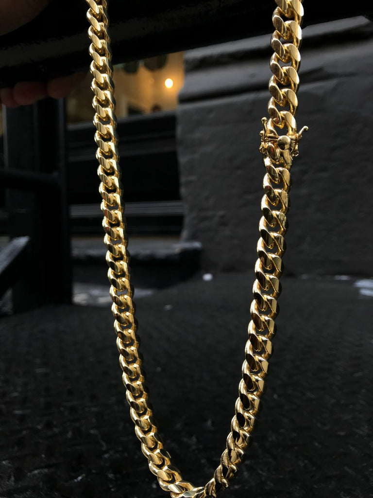 Miami Cuban Link Chain (10mm) - Vermeil - Gold X