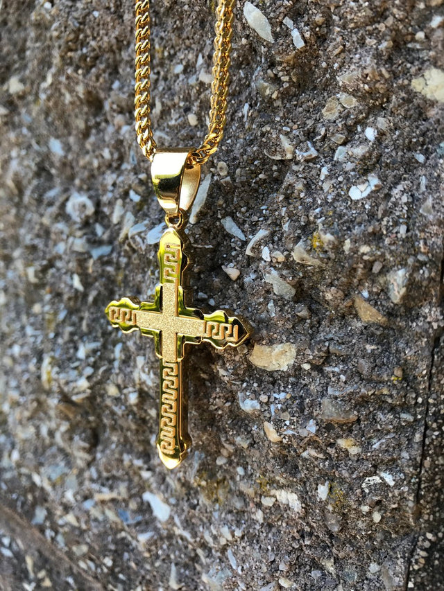 Traditional Cross Pendant - Gold X