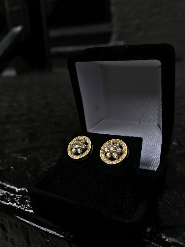 Leaf Cut Diamond Earrings - Vermeil - Gold X
