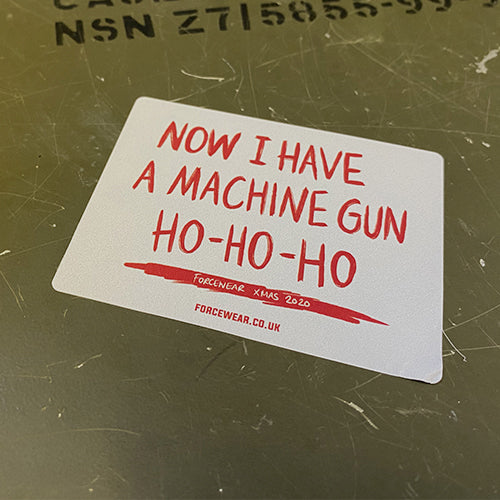 HO HO HO (DIE HARD) STICKER 150