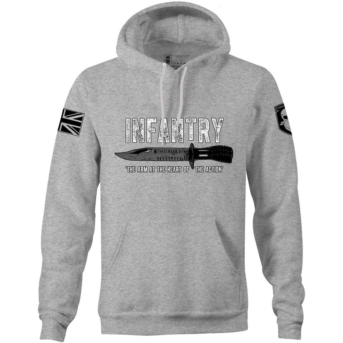 'AT THE HEART OF THE ACTION' HOODIE-NEW DESIGNS (ALL BRANDS)-Force Wear HQ