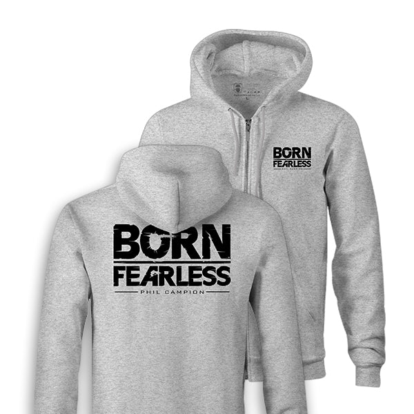 BORN FEARLESS TAG AND BACK ZIPPIE