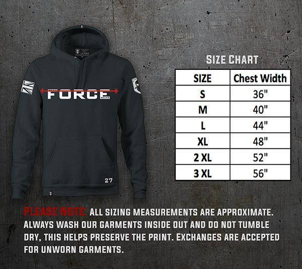 FEAR DEATH SLR HOODIE-NEW DESIGNS (ALL BRANDS)-Force Wear HQ