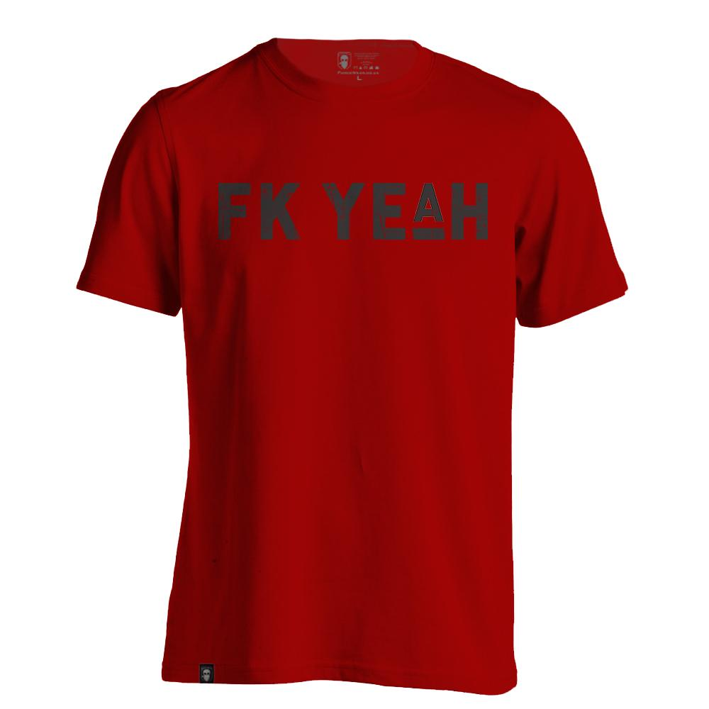 FK YE(A)H RED-NEW DESIGNS (ALL BRANDS)-Force Wear HQ