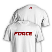 FORCE T-SHIRT WHITE-NEW DESIGNS (ALL BRANDS)-Force Wear HQ