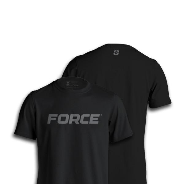 FORCE T-SHIRT WORN BLACK-NEW DESIGNS (ALL BRANDS)-Force Wear HQ