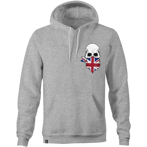 SKULL BRITANNIA HOODIE PT GREY-NEW DESIGNS (ALL BRANDS)-Force Wear HQ