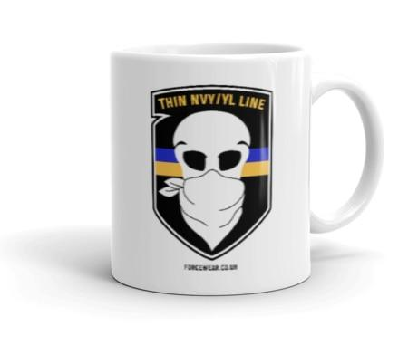 THIN NVY/ YL LINE MUG-FORCE WEAR ®-Force Wear HQ