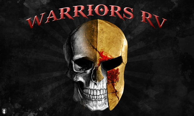 WARRIORS RV FLAG (MEDIUM)-WARRIORS RV ®-Force Wear HQ