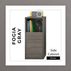 Fogia Gray Side Cabinet
