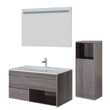 Load image into Gallery viewer, Dora Modern Fogia Gray Oak Wall Mount Bathroom Vanity Set