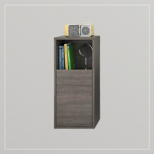 Dora Modern Fogia Gray Oak - Selerno Brown Wall Mount Side Cabinet