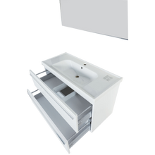 Load image into Gallery viewer, Fiore Contemporary Glossy White Wall Mount Bathroom Vanity Set