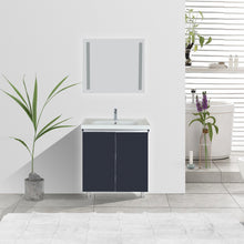 "Load image into Gallery viewer, Melo 32"" Anthracite Gray Single Sink Free Standing Bathroom Vanity Set"