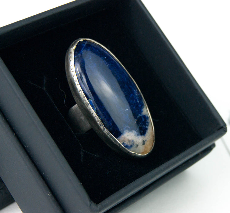 Sodalite oval ring