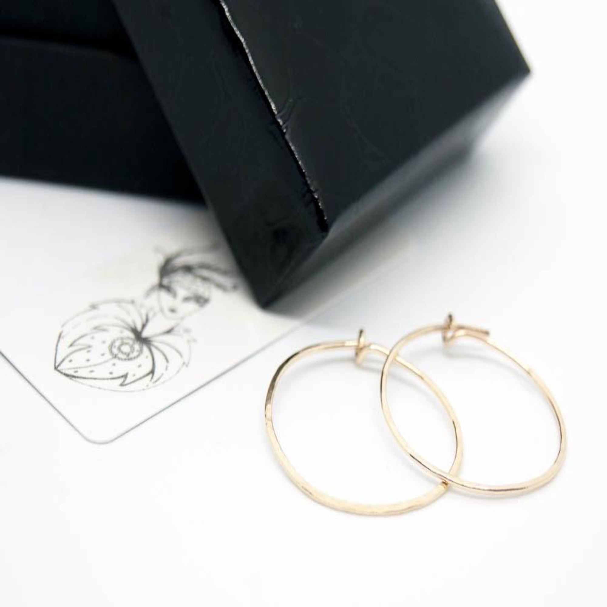 18ct Gold Hoop Earrings