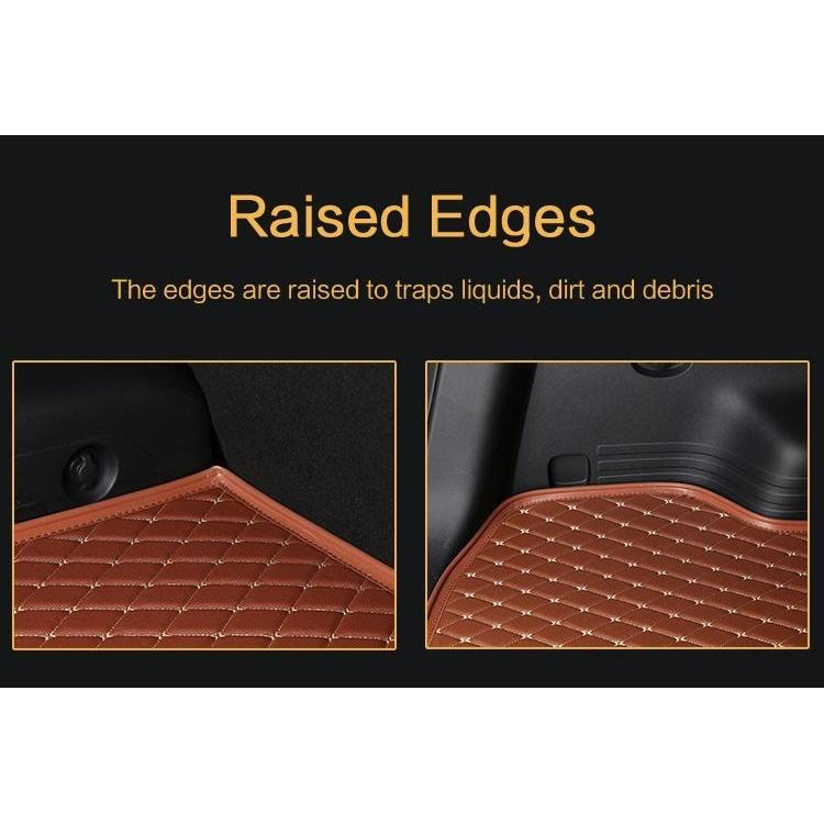 Black Diamond Leather Rear Trunk Cargo Liner