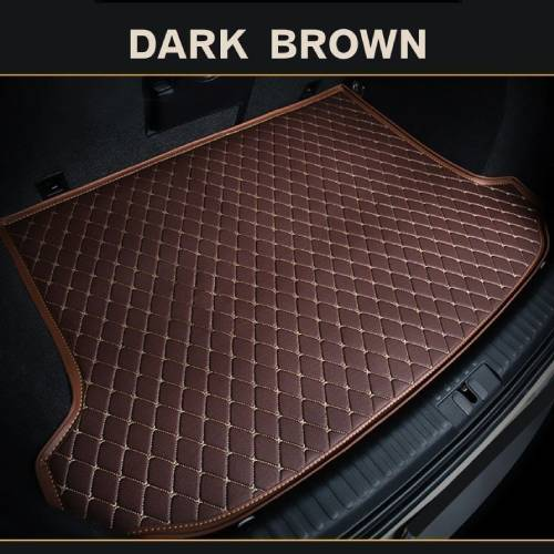 Dark Brown Diamond Leather Rear Trunk Cargo Liner