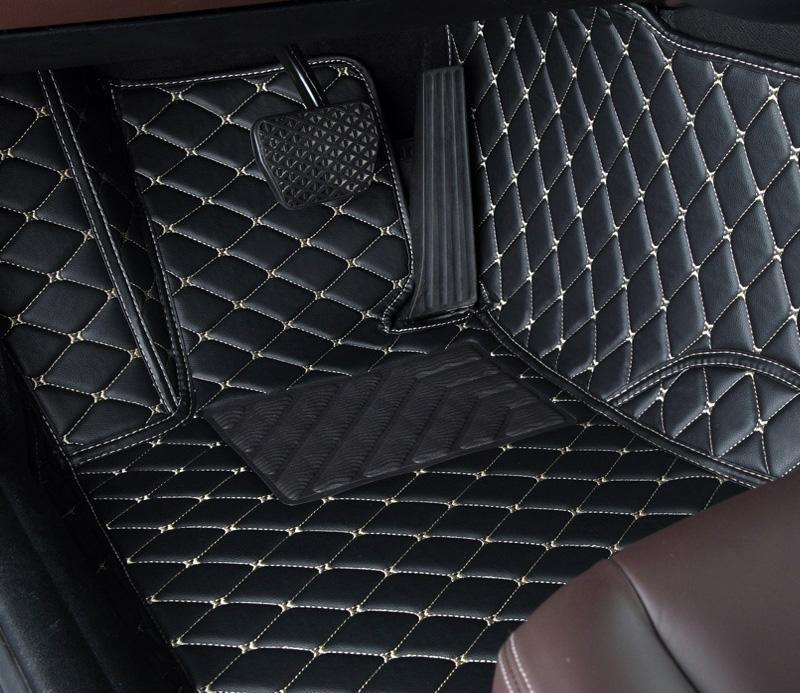 Black Diamond Leather Floor Mat