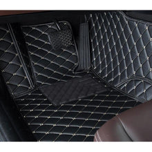 Load image into Gallery viewer, Dark Brown Diamond Leather Floor Mat