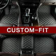 Load image into Gallery viewer, Black Diamond Leather Floor Mat