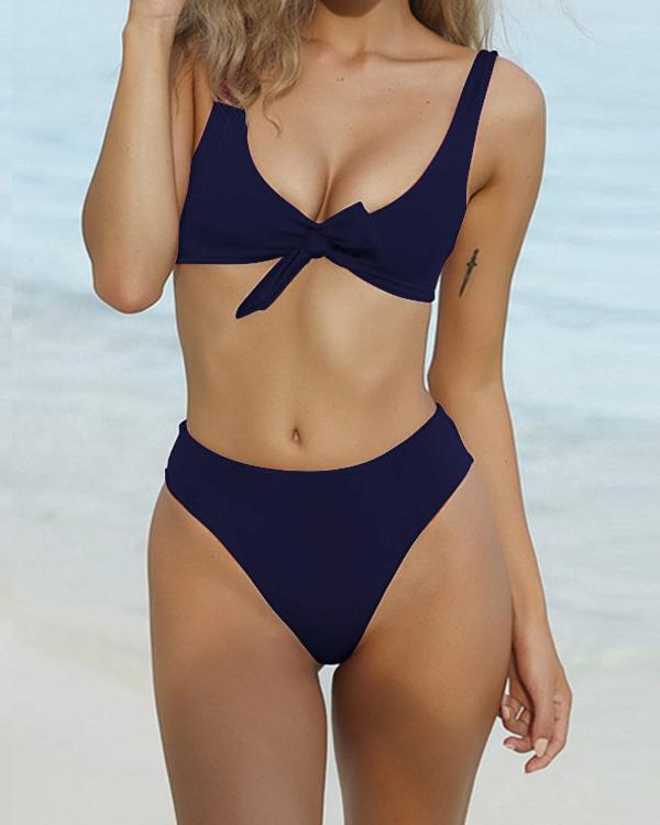 Summer Beach Bikini Solid Color Panty Wing Delta - nayachic