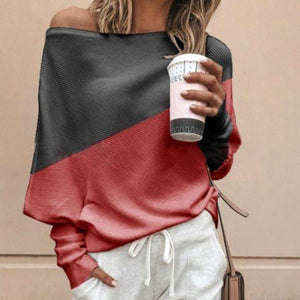 Women Brief Color Block Long Sleeve T-Shirt