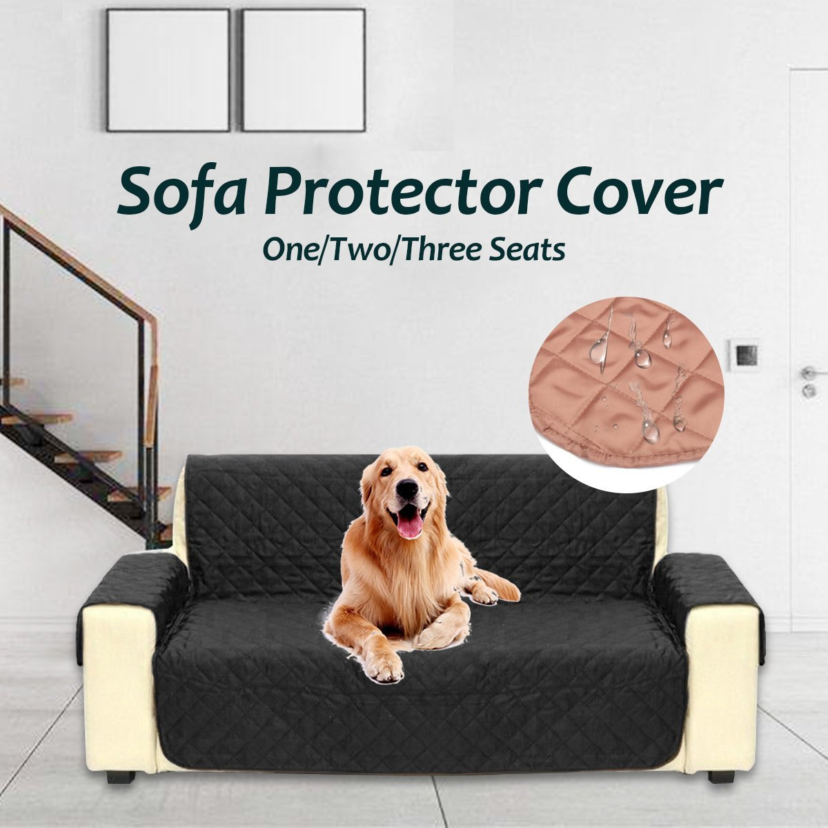 Waterproof Quilted Sofa Covers for Dogs Pets Kids Anti-Slip Couch Recliner Slipcovers 1/2/3 Seater - nayachic