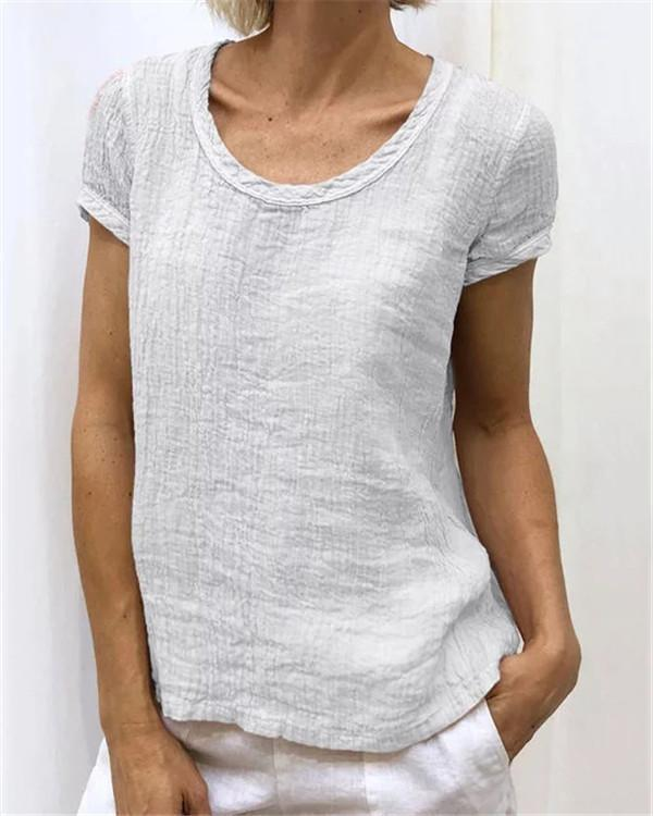 Summer Short Sleeve Women Casual Tops - veooy
