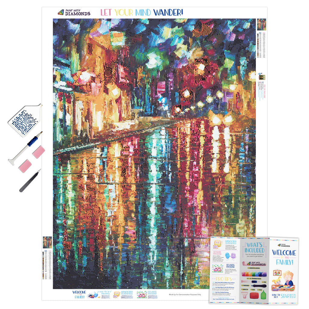 Colors Of Paris-5D Diamond Painting